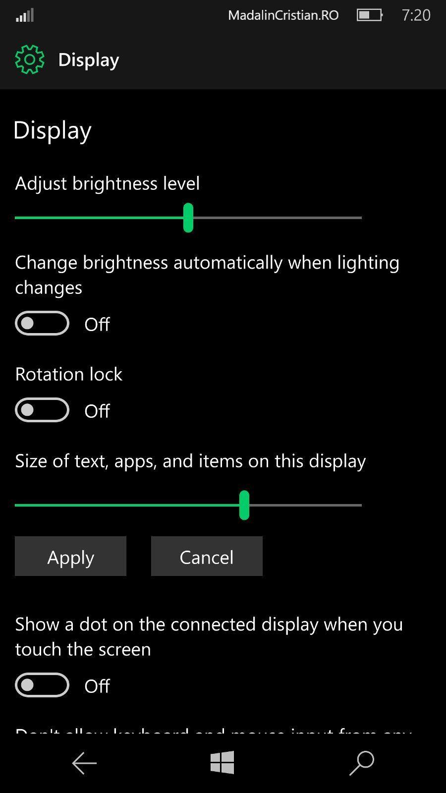Funcția Night Light nu va fi inclusă în Windows 10 Mobile