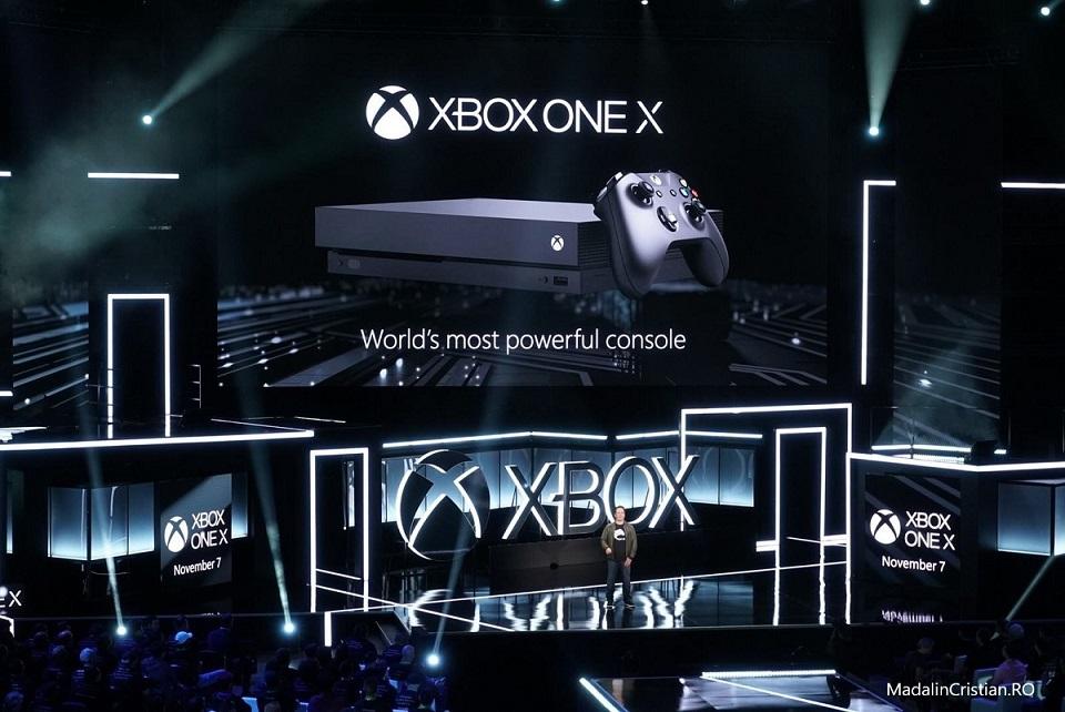 Noua consolă Xbox ONE X de la Microsoft va fi lansată pe 7 noiembrie