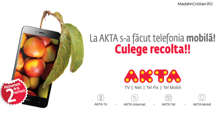 AKTA Mobil: Abonament de 10 euro cu zero beneficii