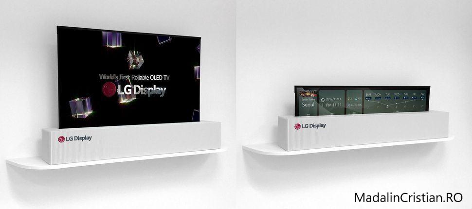LG a creat televizorul OLED ce poate fi rulat ca un ziar