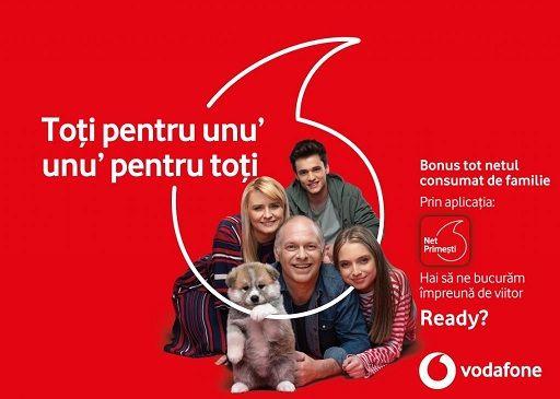 """Cum poți primi până la 50 GB/lună prin programul """"Toți pentru unu`, unu` pentru toți"""" de la Vodafone?"""