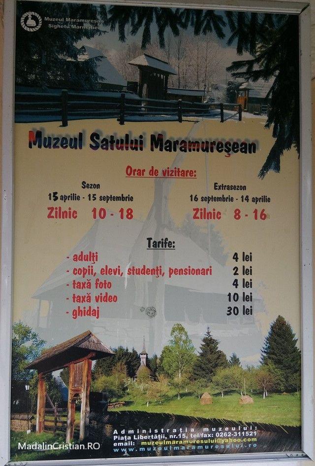 tarife muzeul satului maramuresean