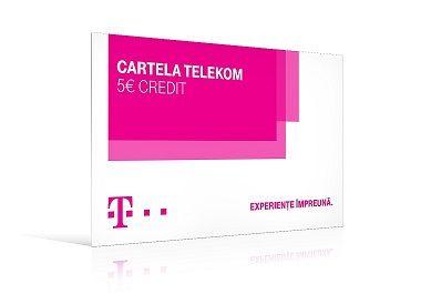 Cartela Telekom 5 Euro 3D