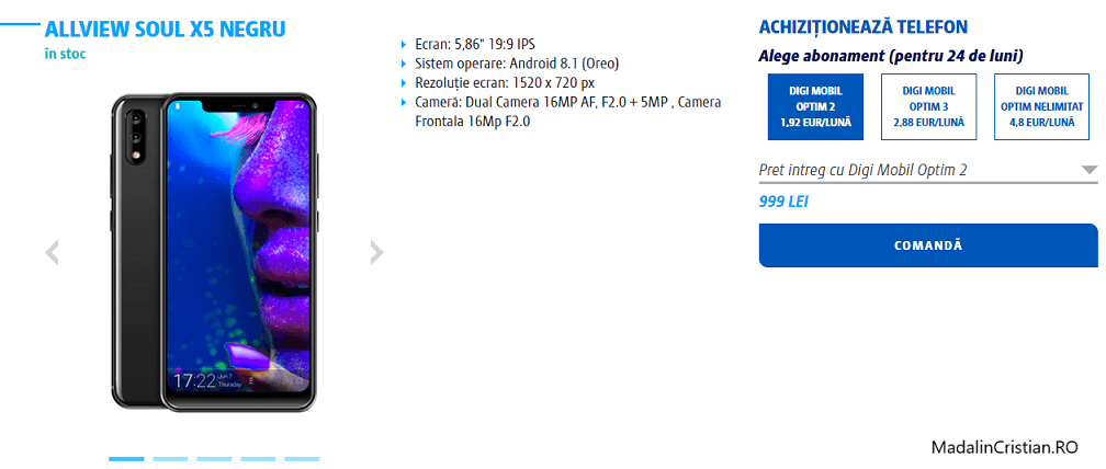 Allview Soul X5 în oferta VoLTE & VoWiFI Digi.Mobil