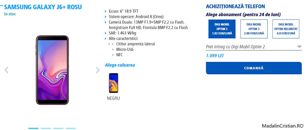 Samsung Galaxy J6+ în oferta VoLTE & VoWiFI Digi.Mobil