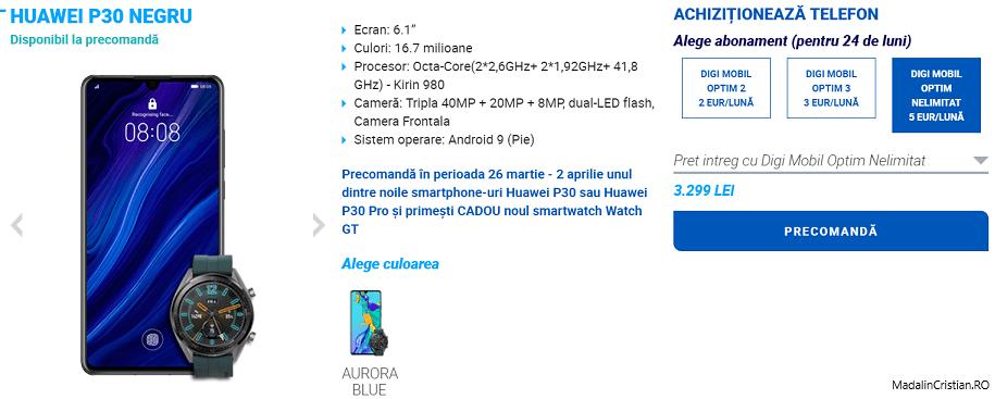 Noile telefoane Huawei P30 și P30 Plus în oferta VoLTE și VoWiFi Digi.Mobil