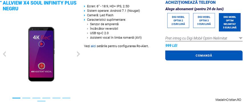 Allview X4 Soul Infinity Plus în oferta VoLTE și VoWiFi Digi.Mobil