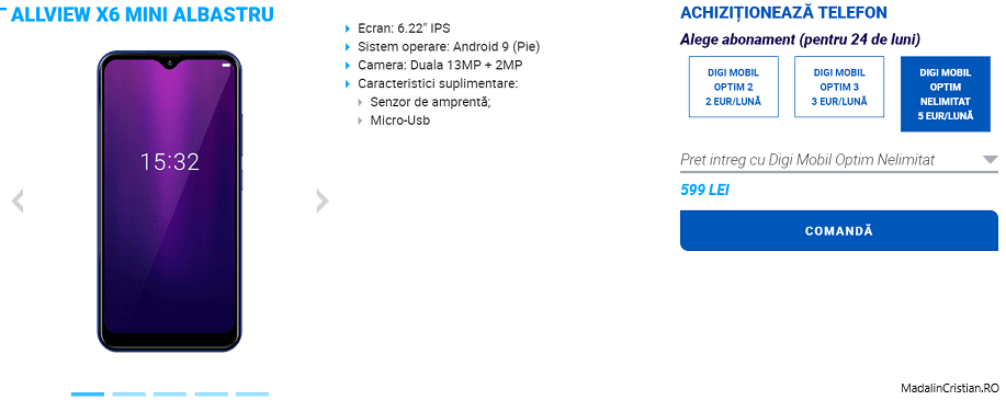 Allview X6 Mini în oferta VoLTE și VoWiFi DIGI.Mobil