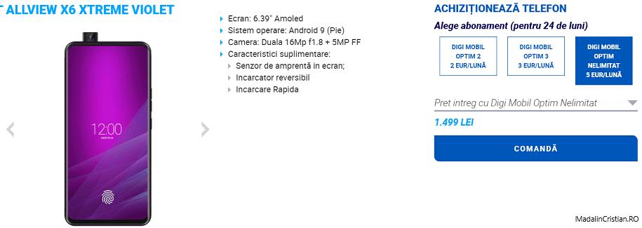 Allview X6 Xtreme în oferta VoLTE și VoWiFi Digi.Mobil
