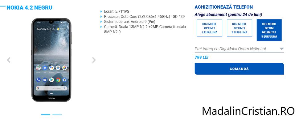 Nokia 4.2 în oferta VoLTE și WoWiFi DIGI.Mobil