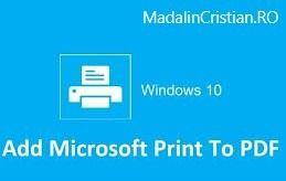 Cum să creezi PDF-uri în Windows 10?