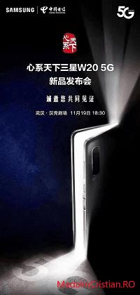 Samsung W20 5G – telefonul pliabil ce va fi lansat în China