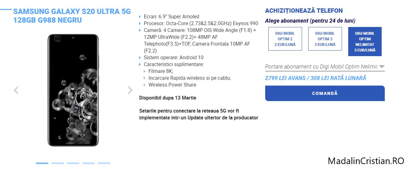 Samsung strică Galaxy S20 Ultra cu cel mai nou update