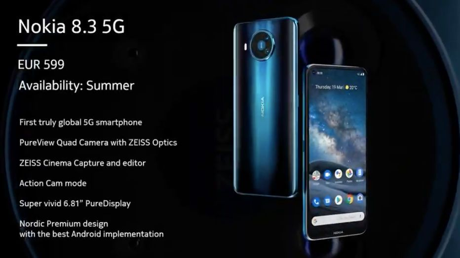 Nokia 8.3 – primul telefon 5G al HMD Global