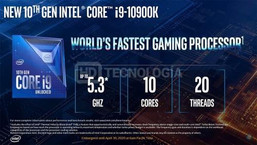 Intel lansează generația de procesoare desktop Comet Lake