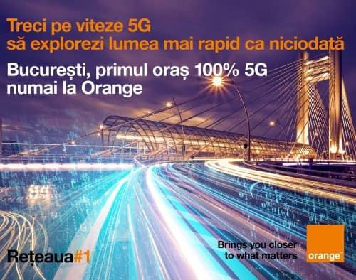 Bucureşti devine primul oraş din România cu 100% acoperire 5G în reţeaua Orange
